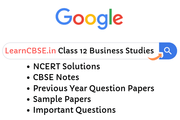 NCERT Solutions for Class 12 Business Studies