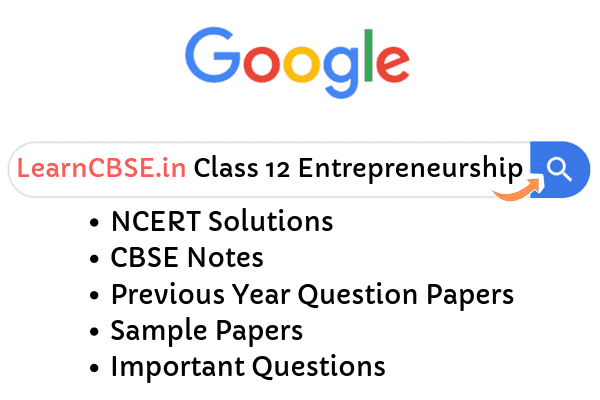 NCERT Solutions for Class 12 Entrepreneurship