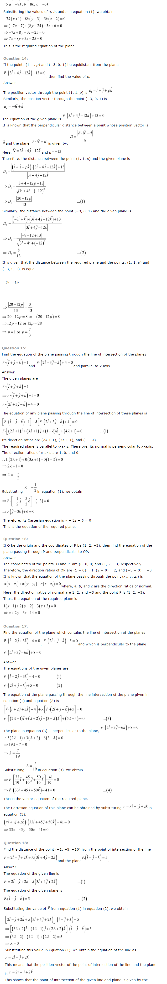 NCERT Solutions for Class 12 Maths Chapter 11 Three Dimensional Geometry 10