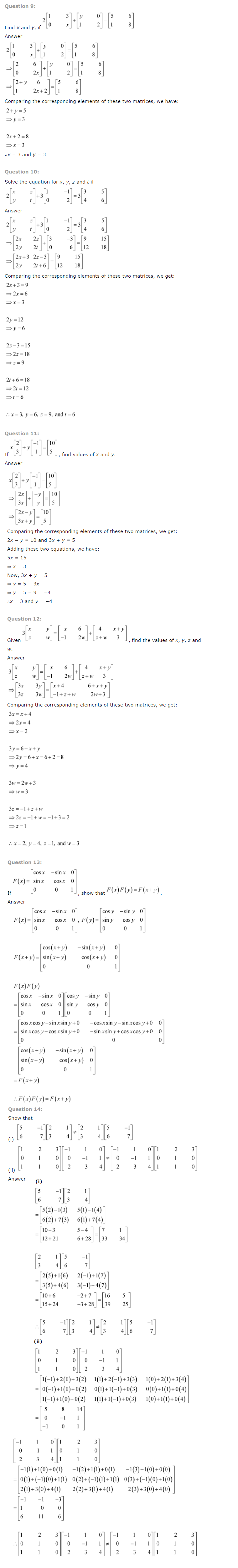 NCERT Solutions for Class 12 Maths Chapter 3 Matrices 4