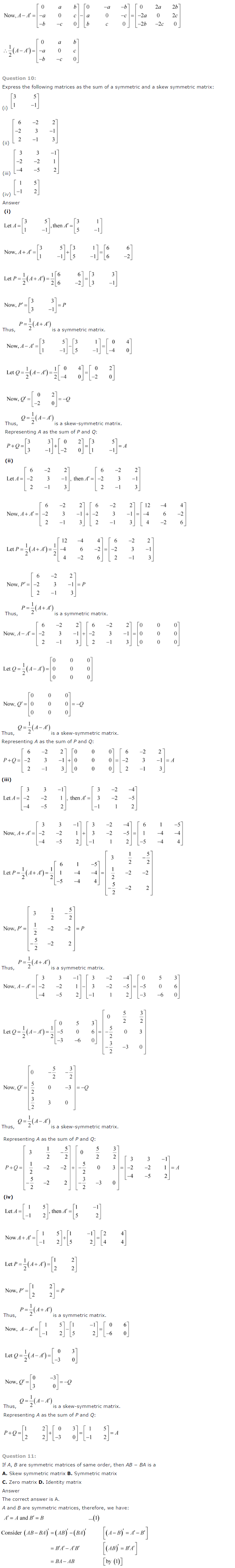 NCERT Solutions for Class 12 Maths Chapter 3 Matrices 8