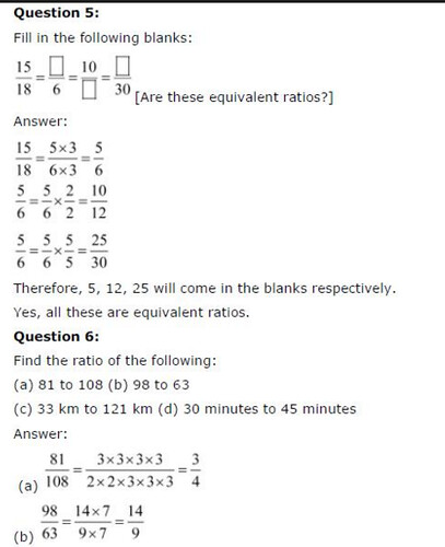 NCERT Solutions for Class 6 Maths Chapter 12 Ratios and Proportions Ex 12.1 Q4