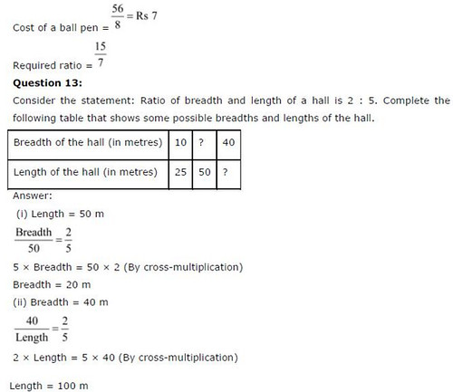 NCERT Solutions for Class 6 Maths Chapter 12 Ratios and Proportions Ex 12.1 Q9