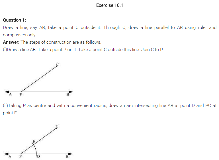NCERT Solutions for Class 7 Maths Chapter 10 Practical Geometry Ex 10.1 Q1