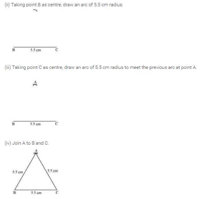 NCERT Solutions for Class 7 Maths Chapter 10 Practical Geometry Ex 10.2 Q2.1