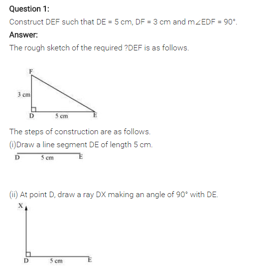 NCERT Solutions for Class 7 Maths Chapter 10 Practical Geometry Ex 10.3 Q1