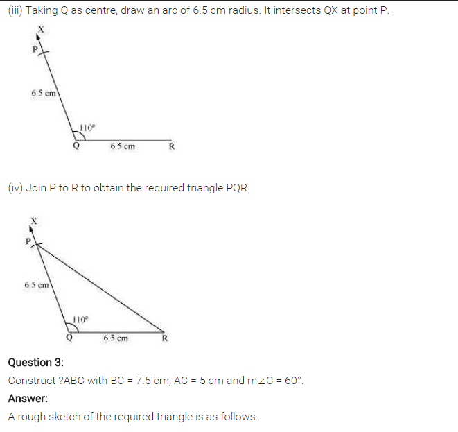 NCERT Solutions for Class 7 Maths Chapter 10 Practical Geometry Ex 10.3 Q2.2
