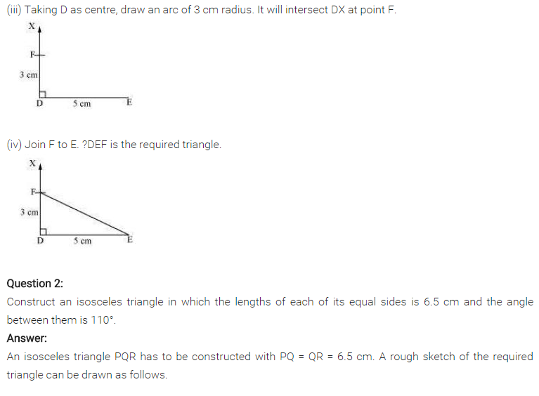 NCERT Solutions for Class 7 Maths Chapter 10 Practical Geometry Ex 10.3 Q2