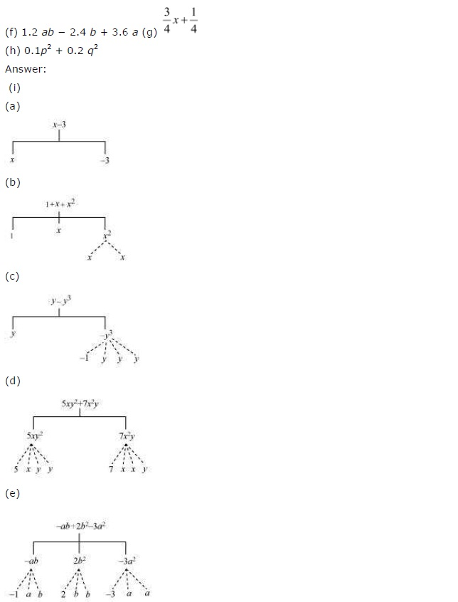 NCERT Solutions for Class 7 Maths Chapter 12 Algebraic Expressions Ex 12.1 Q2