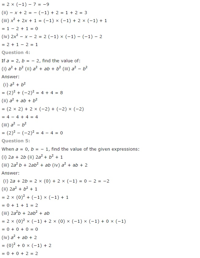 NCERT Solutions for Class 7 Maths Chapter 12 Algebraic Expressions Ex 12.3 Q2