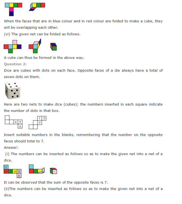 NCERT Solutions for Class 7 Maths Chapter 15 Visualising Solid Shapes Ex 15.1 Q2
