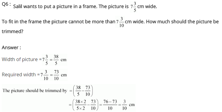 NCERT Solutions for Class 7 Maths Chapter 2 Fractions and Decimals Ex 2.1 Q6