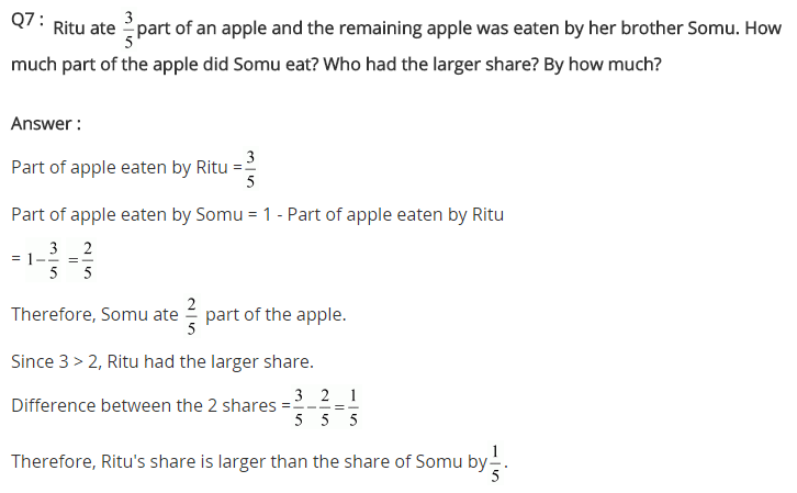 NCERT Solutions for Class 7 Maths Chapter 2 Fractions and Decimals Ex 2.1 Q7