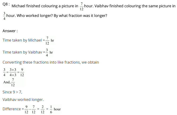 NCERT Solutions for Class 7 Maths Chapter 2 Fractions and Decimals Ex 2.1 Q8