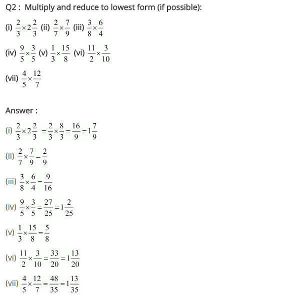 NCERT Solutions for Class 7 Maths Chapter 2 Fractions and Decimals Ex 2.3 Q2