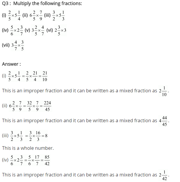 NCERT Solutions for Class 7 Maths Chapter 2 Fractions and Decimals Ex 2.3 Q3