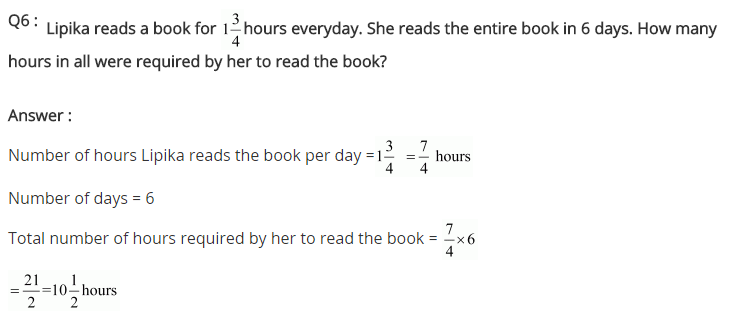 NCERT Solutions for Class 7 Maths Chapter 2 Fractions and Decimals Ex 2.3 Q6