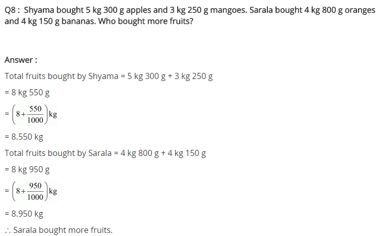 NCERT Solutions for Class 7 Maths Chapter 2 Fractions and Decimals Ex 2.5 Q8