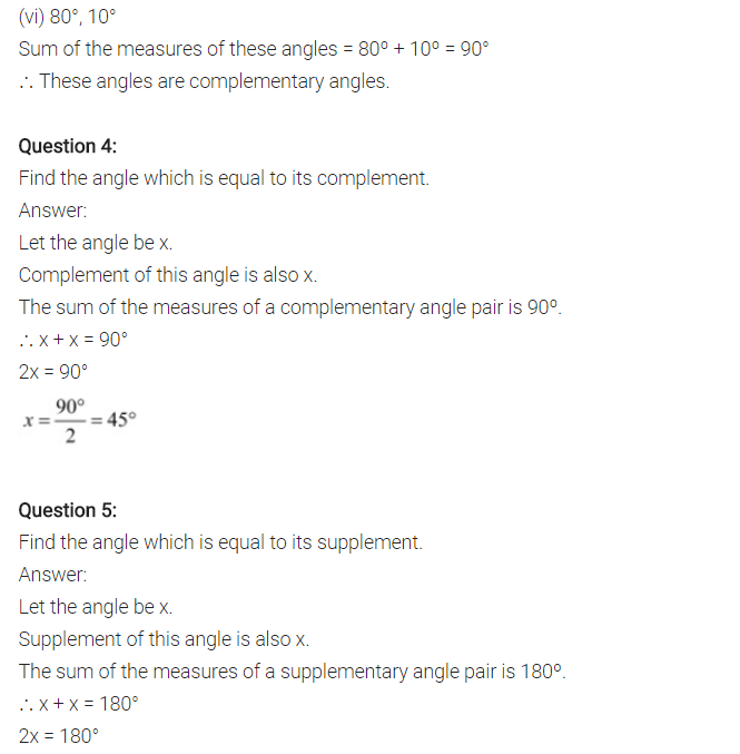 NCERT Solutions for Class 7 Maths Chapter 5 Lines and Angles Ex 5.1 Q4
