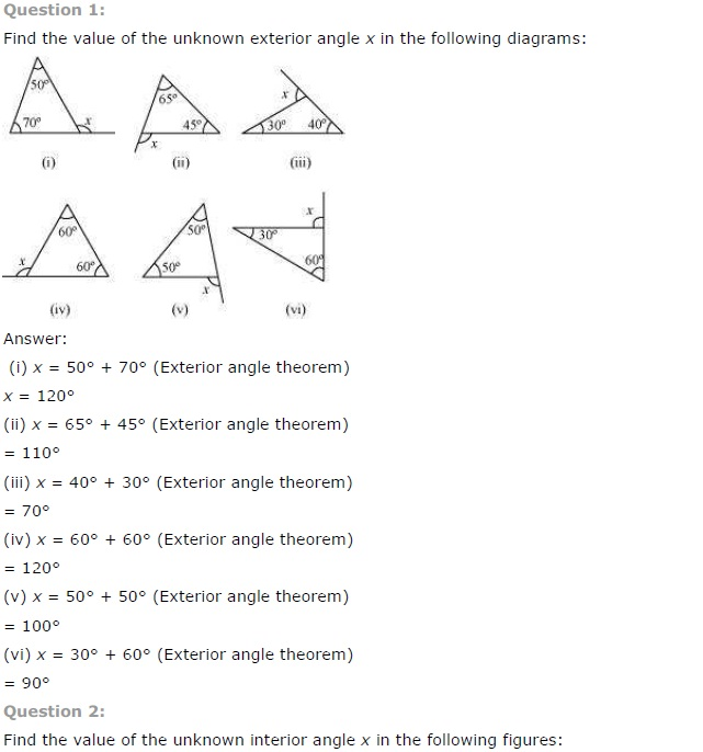 NCERT Solutions for Class 7 Maths Chapter 6 The Triangle and its Properties Ex 6.2 Q1