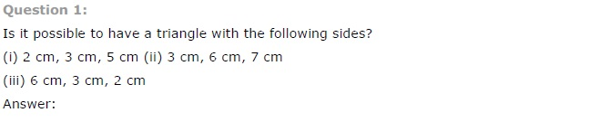 NCERT Solutions for Class 7 Maths Chapter 6 The Triangle and its Properties Ex 6.4 Q1