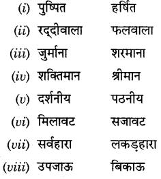 CBSE Class 9 Hindi A व्याकरण प्रत्यय 30