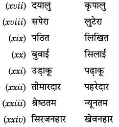 CBSE Class 9 Hindi A व्याकरण प्रत्यय 32