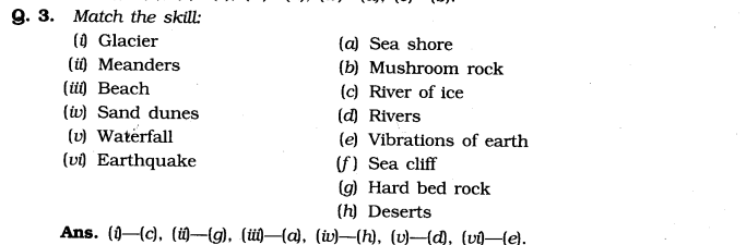 NCERT Solutions For Class 7 Geography Social Science Chapter 3 Our Changing Earth Q3