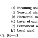 NCERT Solutions For Class 7 Geography Social Science Chapter 4 Air Q3