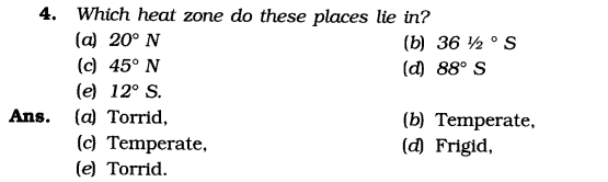 NCERT Solutions for Class 6 Social Science Geography Chapter 2 Globe Latitudes and Longitudes SAQ Q4