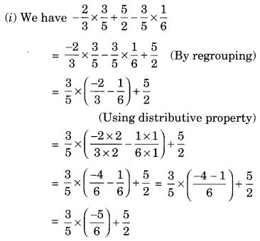 NCERT Solutions for Class 8 Maths Chapter 1 Rational Numbers Ex 1.1 Q1.1