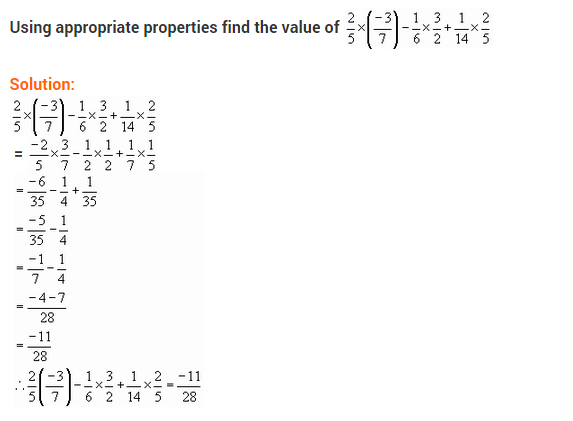 NCERT Solutions for Class 8 Maths Chapter 1 Rational Numbers Ex 1.1 q-1.1