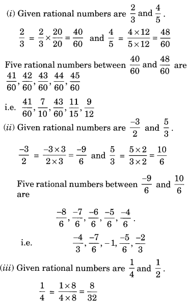 NCERT Solutions for Class 8 Maths Chapter 1 Rational Numbers Ex 1.2 Q5