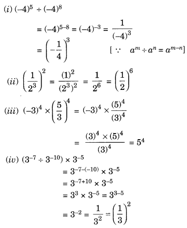 NCERT Solutions for Class 8 Maths Chapter 12 Exponents and Powers Ex 12.1 Q2.1
