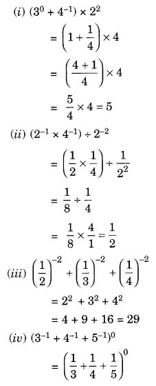 NCERT Solutions for Class 8 Maths Chapter 12 Exponents and Powers Ex 12.1 Q3.1