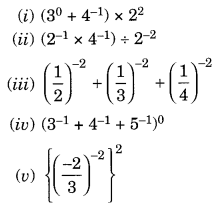 NCERT Solutions for Class 8 Maths Chapter 12 Exponents and Powers Ex 12.1 Q3