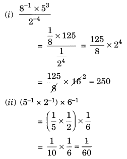 NCERT Solutions for Class 8 Maths Chapter 12 Exponents and Powers Ex 12.1 Q4.1