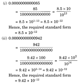 NCERT Solutions for Class 8 Maths Chapter 12 Exponents and Powers Ex 12.2 Q1