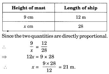 NCERT Solutions for Class 8 Maths Chapter 13 Direct and Inverse Proportions Ex 13.1 Q6.1