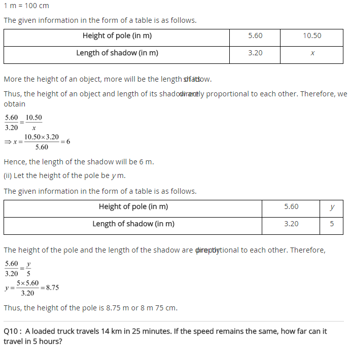NCERT Solutions for Class 8 Maths Chapter 13 Direct and Inverse Proportions Ex 13.1 q-7