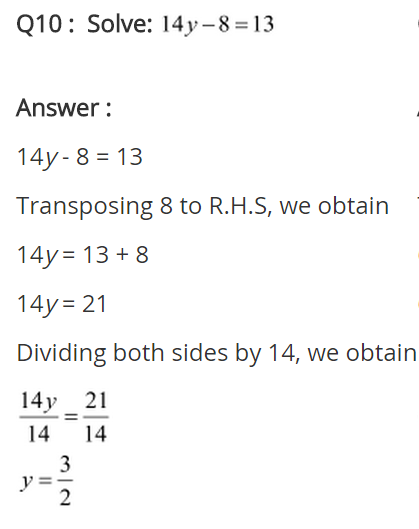 NCERT Solutions for Class 8 Maths Chapter 2 Linear Equations in One Variable Ex 2.1 q-10