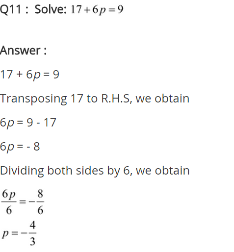 NCERT Solutions for Class 8 Maths Chapter 2 Linear Equations in One Variable Ex 2.1 q-11