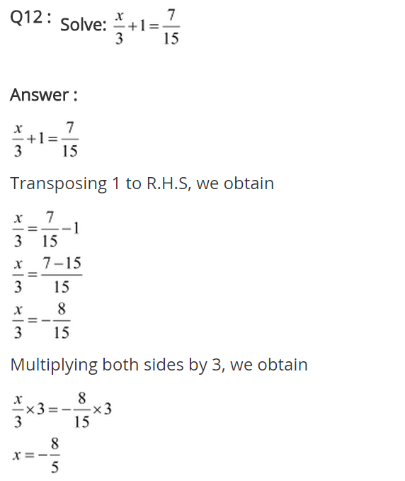 NCERT Solutions for Class 8 Maths Chapter 2 Linear Equations in One Variable Ex 2.1 q-12