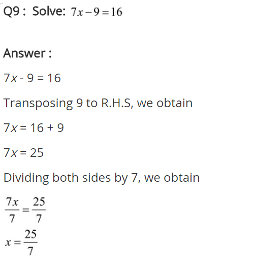 NCERT Solutions for Class 8 Maths Chapter 2 Linear Equations in One Variable Ex 2.1 q-9