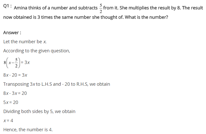 NCERT Solutions for Class 8 Maths Chapter 2 Linear Equations in One Variable Ex 2.4 q-1