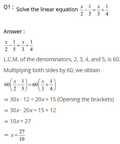 NCERT Solutions for Class 8 Maths Chapter 2 Linear Equations in One Variable Ex 2.5 q-1