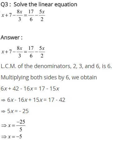 NCERT Solutions for Class 8 Maths Chapter 2 Linear Equations in One Variable Ex 2.5 q-3