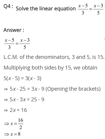 NCERT Solutions for Class 8 Maths Chapter 2 Linear Equations in One Variable Ex 2.5 q-4