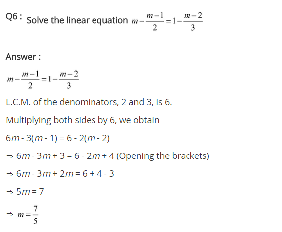 NCERT Solutions for Class 8 Maths Chapter 2 Linear Equations in One Variable Ex 2.5 q-6
