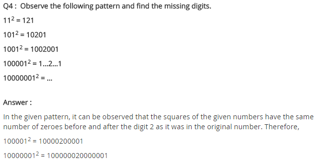 NCERT Solutions for Class 8 Maths Chapter 6 Squares and Square Roots Ex 6.1 Q4